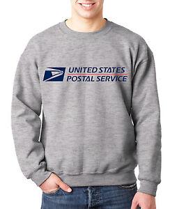 USPS POSTAL SPORT GREY CREW NECK Sweatshirt US Logo Chest United States Service
