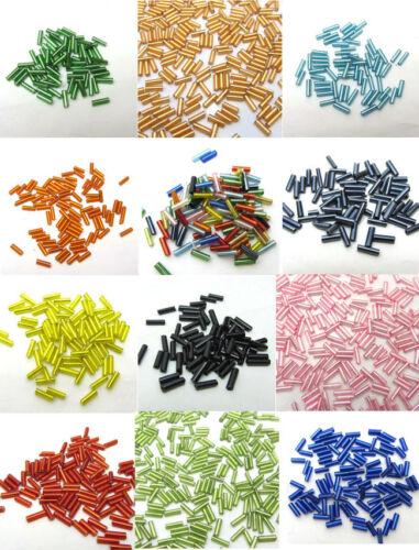 Lot 2x7mm 15g 450pcs Czech Glass Tube Bugle Beads Jewelry Making Color Pick