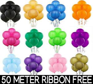 25-100-Latex-PLAIN-BALOON-BALLONS-helium-BALLOONS-Quality-Party-Birthday-Wedding