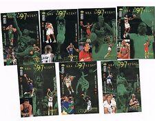 1997/98 COLLECTOR'S CHOICE MICHAEL JORDAN NBA GAME NIGHT 7 CARD LOT TEAM CARDS