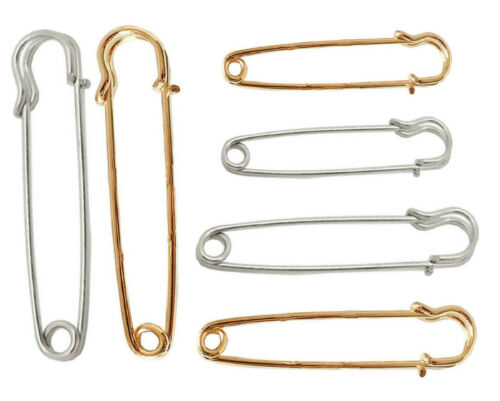Large Metal Stitch Holder Kilt Pins Scarf Brooch Safety Knitting Pins Brooch Pin