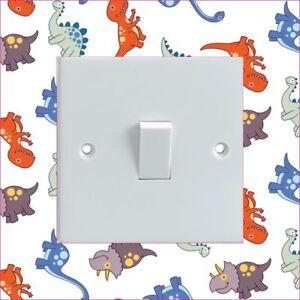 CARTOON-DINOSAURS-PATTERN-Electrical-Light-Switch-Surround-Printed-Vinyl-Sticker