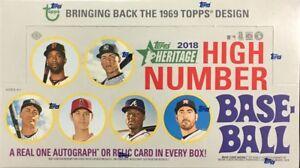 2018-TOPPS-HERITAGE-HIGH-NUMBER-Singles-Base-Inserts-Pick-Card-Build-Set-lot-MLB