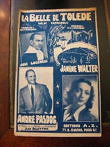 Spartito-La-belle-Toledo-Jose-Lucchesi-Janine-Walter-AndrE-Pasdog