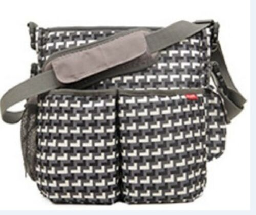 Diaper Bag with Stroller Strap Charcoal Dark Grey New BLOVE Baby Changing Bag