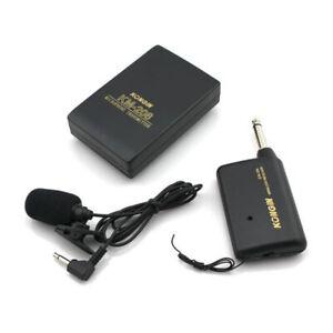 Sistema-Di-Microfoni-Wireless-Trasmettitore-FM-Ricevitore-Lavalier-Clip-Di