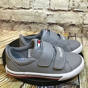 Tommy Hilfiger Heritage Infant Gray Hook and Loop Boys Sneakers Shoes Size 6 T