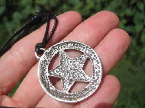 Metal Pewter inverted pentagram Baphomet Satanic Goat Head Pendant Necklace A5