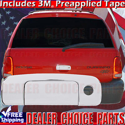 For 1998-2003 DODGE DURANGO 4dr Chrome Door Handle COVERS w//1 Key Hole+Tailgate