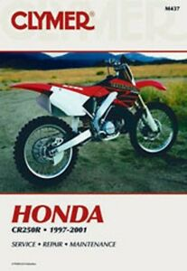 clymer repair service shop manual honda cr250 r 97 98 99 00 01 ebay rh ebay com 1997 Honda CR250 1998 honda cr250 service manual pdf