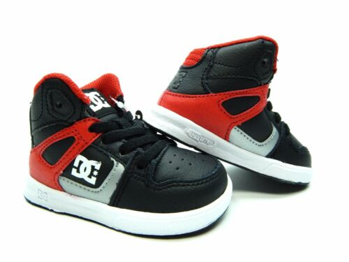 DC KIDS REBOUND UL TODDLER BLACK ATHLETIC RED SHOES SIZE 5.0 6.0