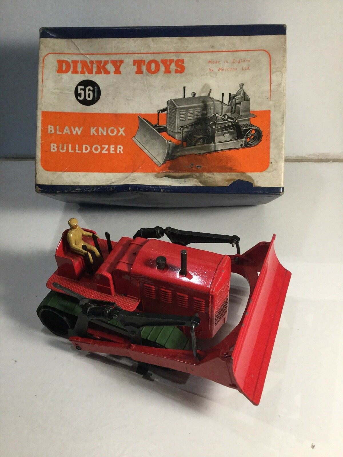 Dinky 561 Blaw Knox Bulldozer Within Its Original Box