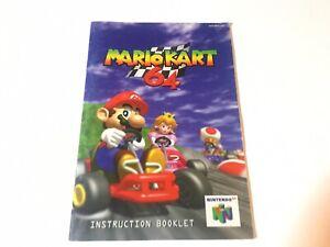 Super Mario 64 (Nintendo 64) Instruction Manual Booklet Only NO GAME Original
