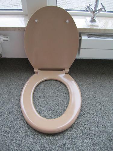 Profi WC Sitz Pagette bahamabeige beige m Edelstahlbefestigung f Wand /& Stand WC