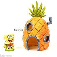 Spongebob & Pineapple House Aquarium Decoration Ornament 2 Piece Set