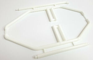 HY00165W-RC-1-10-Scale-Car-White-Interior-Roll-Cage-Posts-Plastic