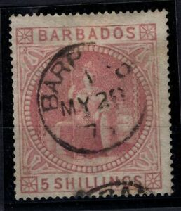 P133357-BRITISH-BARBADOS-SG-64-USED-SIGNED-CERTIFICATE-CV-375