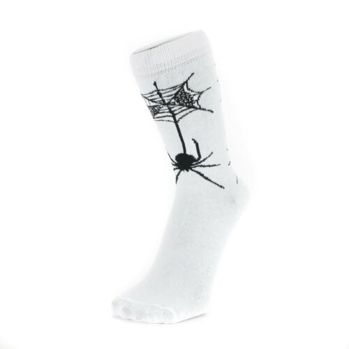 Gothic Style Ankle Socks With Skulls Devils Spiders Bulls Size: 4-7