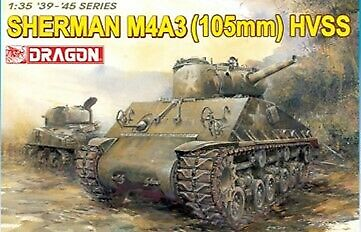 Sherman M4a3 105mm Hvss Tank 1:35 Plastic Model Kit DRAGON MODELS