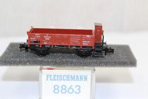 n2587-Fleischmann-8863-Offener-Gueterwagen-GOE-BOX-Spur-N-mint