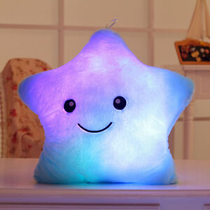 Autism-Calming-Sensory-LED-Light-Pillow-STAR-SHAPED-Stress-Relieve-Cushion-GIFT
