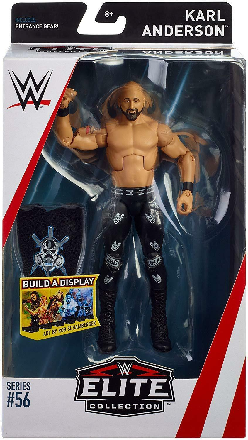 WWE KARL ANDERSON MATTEL SERIES 56 ELITE WRESTLING ACTION FIGURE RAW SD LIVE NXT