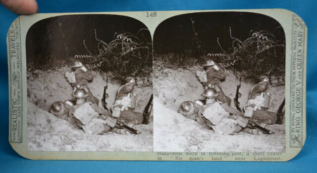 WW1 Stereoview Listening Post In Crater Near Lagnicourt France Realistic Travels