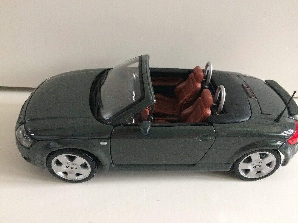1 18 Scale Die Cast Audi TT Roadster By Maisto Charcoal W Brown Interior