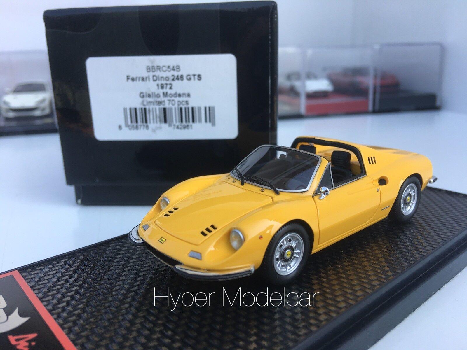 BBR modellllerler 1  43 Ferrari Dino 246 Gts Spider 1969 Gul L.E.70 Pcs konst.BBRC54B