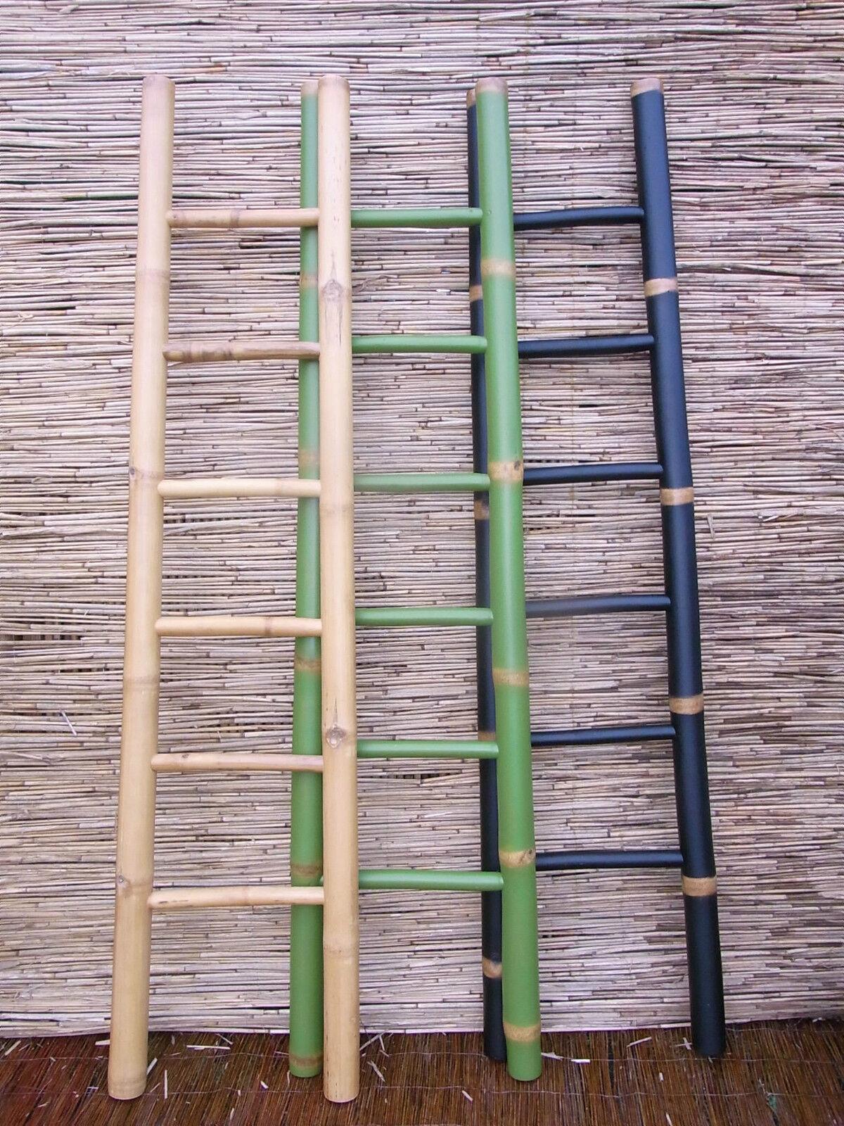 Bambusleiter Leiter Handtuchhalter Kleiderständer Kleiderleiter 200cm 3 Farbig