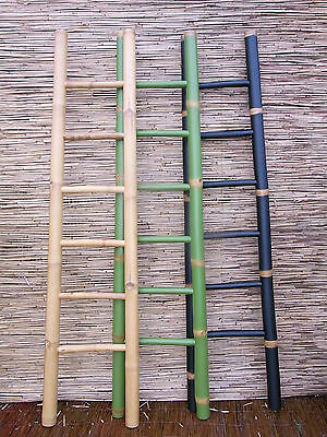 Bambusleiter Leiter Handtuchhalter Bambus 200cm 3 Farbig Handtuchständer