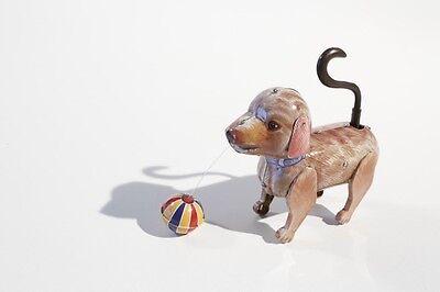 Blechspielzeug Hund Mit Wackelschwanz Ball °° Braun 75070641 Neueste Technik Tiere Spielzeug