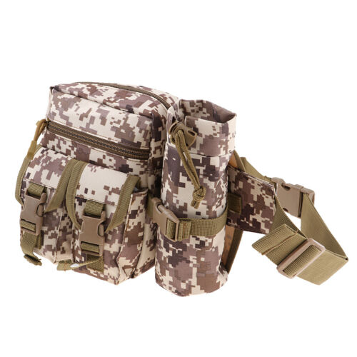 Outdoor Hiking Camping Tactical Water Bottle Belt Fanny Pack Bum Pouch Waist Bag