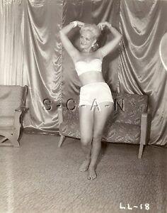Original Vintage 40s-60s Semi Nude RP- Mature Blond- Slips