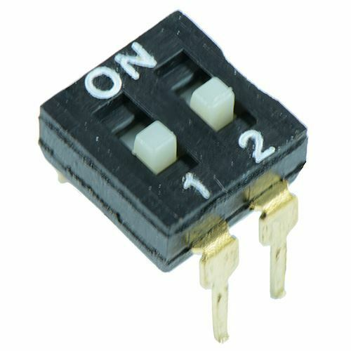 2 Way Low Profile DIL DIP Switch