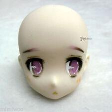 Obitsu 23cm 21cm Female Faceup White Skin Head 01 Repainted B (HAND MAKEUP)