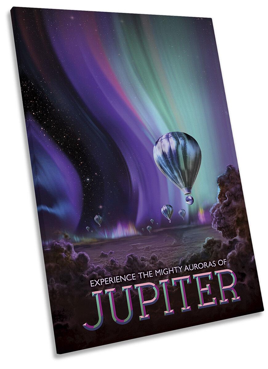 Jupiter NASA Space Tourism Picture CANVAS WALL ART Portrait Print