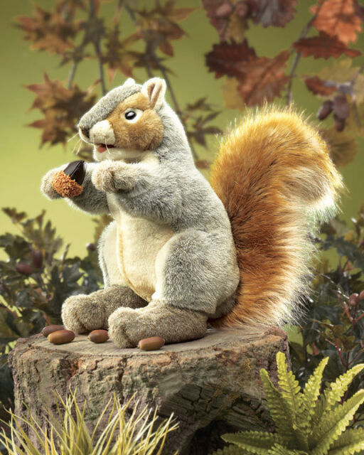 GRAY SQUIRREL PUPPET # 2553 ~ Life Size USA ~ Folkmanis Puppets