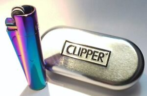 CLIPPER Engraved Metal RAINBOW Personalised Lighter Birthday Valentine gift D