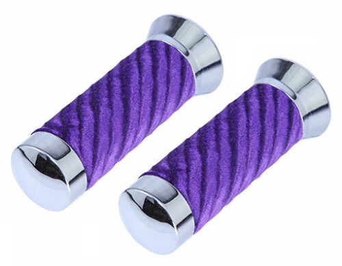 NEW Lowrider Bicycle Velour Swirl Grips With Chrome Lowrider Bike Show Part
