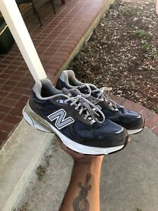 100% authentic 3e69f e7ef8 Details about New Balance 990 Running Shoes Blue Red MADE IN USA M990NV3  Mens 8 Dad Shoes