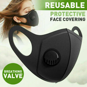 Face Mask Breathable And Washable Masks Filter Valve Reusable Uk Seller Ebay