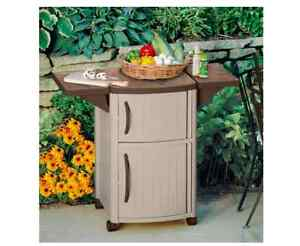 Image Is Loading Suncast Outdoor Patio Cart Bbq Grill Prep Serving