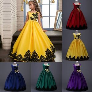 Flower-Girl-Princess-Dress-Kid-Party-Wedding-Pageant-Formal-Tutu-Dresses-Clothes