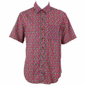 Shirt Festival Abstract Regular Retro Mens Party Loud Psychedelic Funky Red bfY76gy