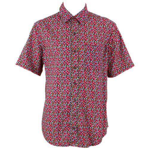 Abstract Mens Regular Psychedelic Funky Shirt Festival Red Party Loud Retro Aj3RLq54