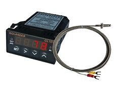 12V DC 1/32DIN Digital PID Temperature Controller, Red with K thermocouple