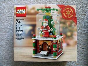 LEGO-Holiday-Christmas-40223-Santa-Snowglobe-New-amp-Sealed