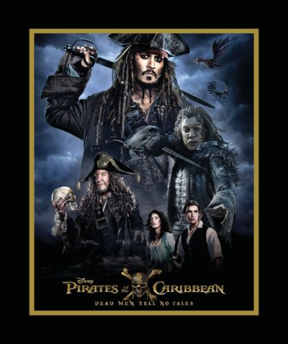 Disney Pirates of the Caribbean Panel 100/% cotton fabric by the panel