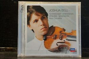 Joshua-Bell-Violin-Concertos-from-Tchaikovsky-Wienia-2-CDs-still-sealed